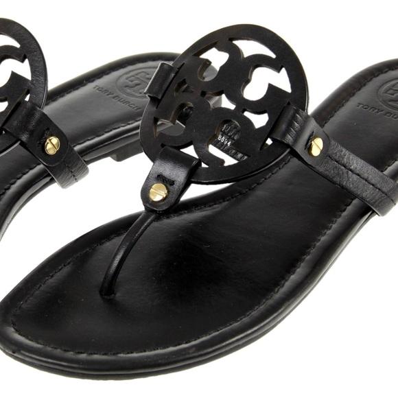 Tory Burch Matte Black Miller Sandals